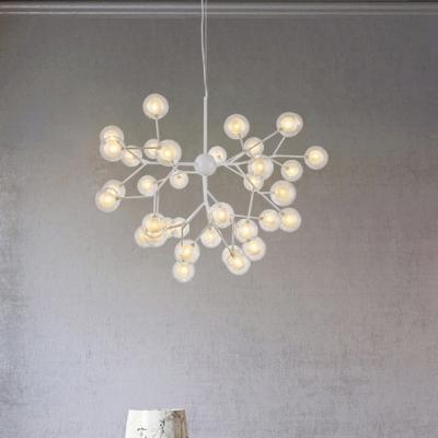 Modern LED Light Designers Lighting Metal LED Modo Chanelier 9/27/36/45/54/63 Light 27W-192W Bubbly Chandelier in White Indoor Lights for Home