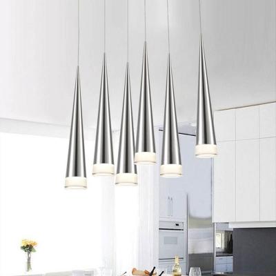 Cone Pendant Lighting Contemporary Light Fixture Aluminum 1 Led