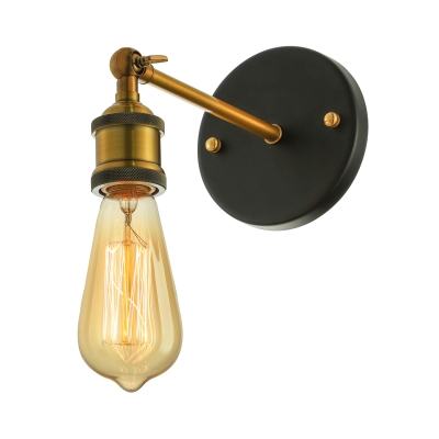 Vintage Single Socket 1 Light Edison Bulb LED Wall Sconce