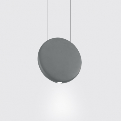 Resin Round Shade Hanging Lamp Nordic Style Black/Green/Grey Finish LED Suspension Light