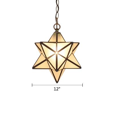 Tiffany Style Star Shape Drop Light Glass 1 Head Ceiling Pendant Light for Children Room