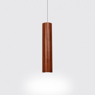 Walnut Cylinder Led Spotlight Nordic Style Aluminum 1 Light Track