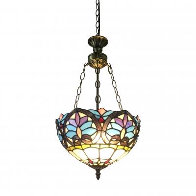 "Купить со скидкой 11.81"" Wide Bowl Shape Tiffany Chandelier in Baroque Style"