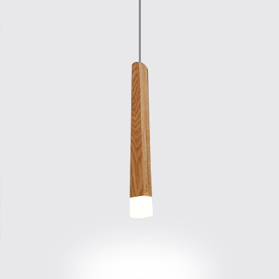 Matchstick LED Pendant Light Nordic Style Wooden Hanging Lamp for Cafe Bar Counter