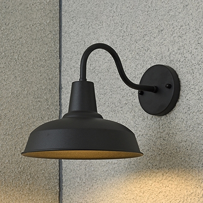 Steel Barn Wall Light Sconce Loft Style Single Light Wall