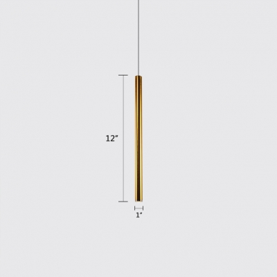 Stainless Steel Tube LED Track Lights Post Modern Style Acrylic Diffuser 1-Light Hanging Pendant