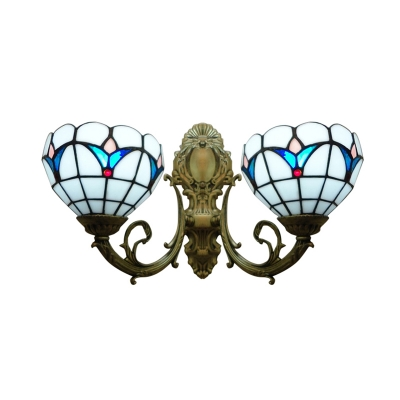 16 Inch Up or Down light Bathroom Sconce in Tiffany Stained Glass Style