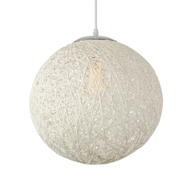 Country Style Linen Wire Globe 1-light Pendant light