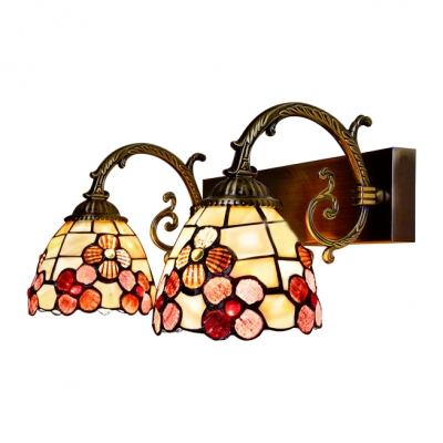 Tiffany Style Shelly Wall Lamp Metal