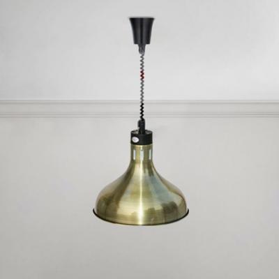 Stainless Steel Barn Pendant Light Industrial Drop Light in Bronze for Kitchen Restaurant