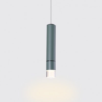 Tube LED Downlight Nordic Design Aluminum 1 Light Hanging Pendant Lamp for Clothes Stores Cafe