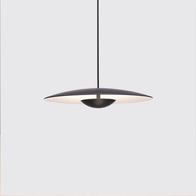 timeless design 3a16b 8b5ea Designers Lighting Shallow Round Hanging Light Metal 1-Light Pendant