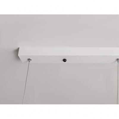 Saucer LED Hanging Pendant Lights Modern Style Aluminum Single Light Pendant Fixture in White