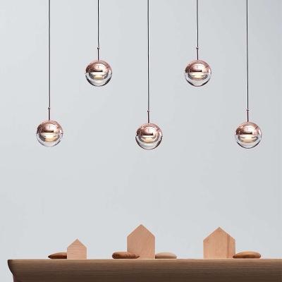Electroplate Metal Globe Hanging Lights