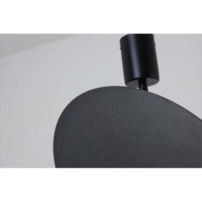 Matte Black Round Suspension Light Simple Style Aluminium Shade LED Hanging Lamp 8