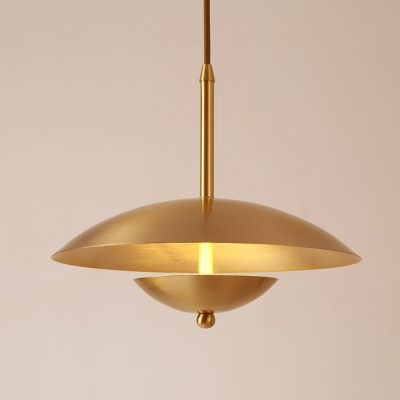 Finish Post Mushroom Lights Single Pendant Light Modern Metal Brass tsdhQr