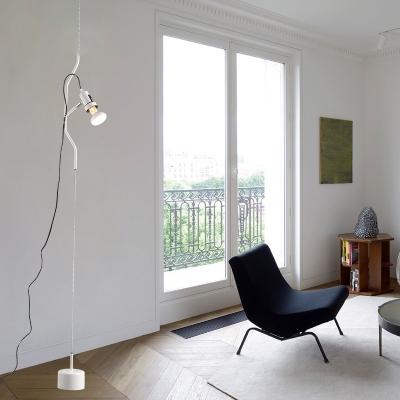 Adjustable Line Spotlight Ultra Modern Metal 1 Light Hanging Pendant lights in Red/White