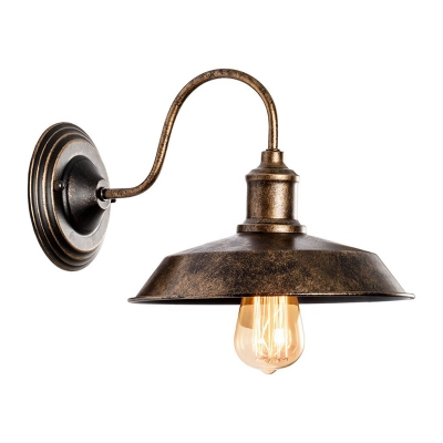 Antique Bronze Barn Wall Mount Fixture Loft Style Metal Single Light Wall Light for Warehouse, HL496186