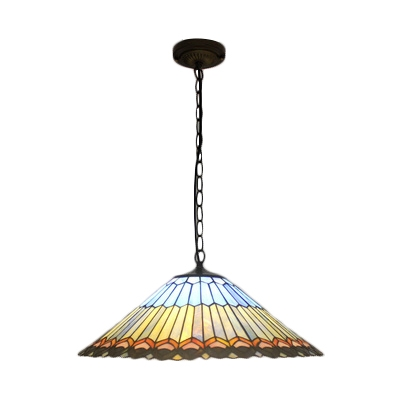 Multi Color Peacock Hanging Light Tiffany Style Stained Glass Art Deco Pendant Lamp