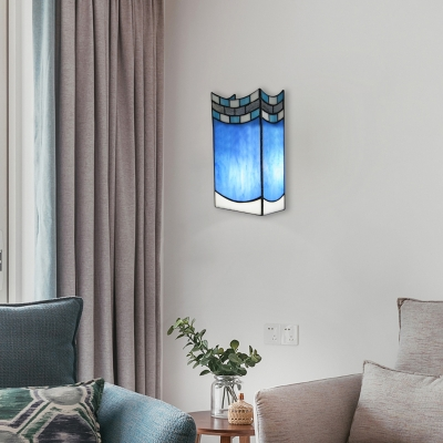 Nature Sea Blue Stained Glass Tiffany 1-light Wall Washer Kids' Room