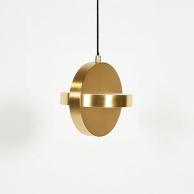 Round Hanging Light in Post Modern Style Aluminium Black/Gold Finish LED Pendant Lamp