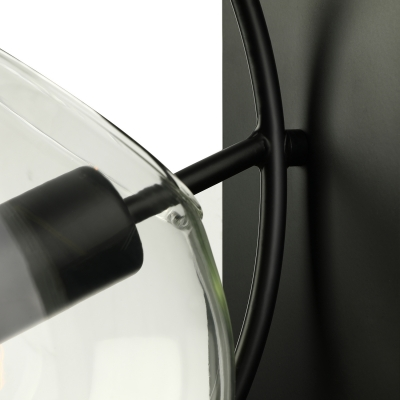 12'' H Clear Glass Matte Black Single Light LED Wall Sconce