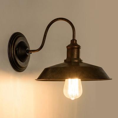Antique Bronze Barn Wall Mount Fixture Loft Style Metal Single Light Wall Light for Warehouse