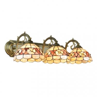 Купить со скидкой Shelly Wall Light Sconce Tiffany Style Resin Triple Light Wall Mount Light in Beige for Foyer
