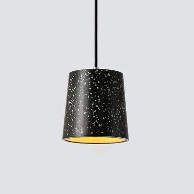 Concrete Cylinder Hanging Lamp Designers Styles Length Adjustable Decorative Drop Light