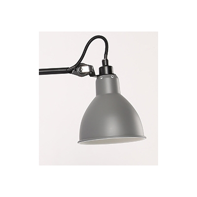 Gray Half Round Wall Sconce Modern Designers Style Metal Wall Mounted Light