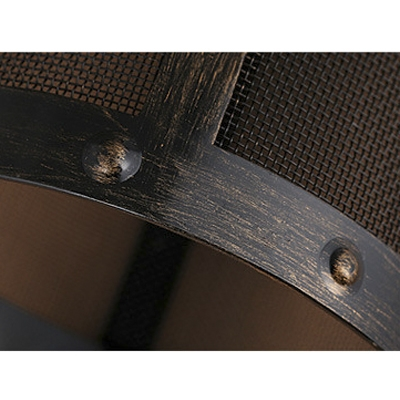 LOFT  Wrought Iron Short Cylinder Net Mini Pendant