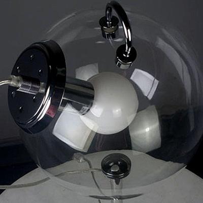 Modern Fashion Orb Desk Light Clear Glass Single Light Table Light in Chrome for Study Room