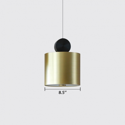 Old Stain Brass Cube/Cylinder/Round Suspension Light Post Modern Stainless Steel LED Hanging Light Fixture