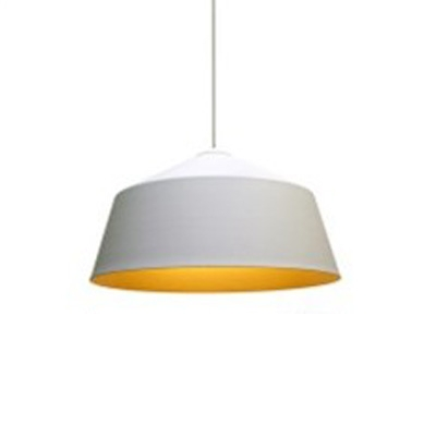 Simplicity Modern Tapered Suspended Lamp Aluminum 1 Bulb Lighting Fixture in White