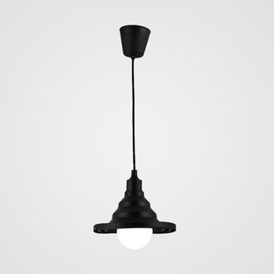 Babel Pendant Light Modern Design Silicon Gel 1 Bulb Suspended Light in Black for Bedroom