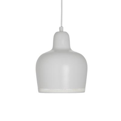 Concise Modern Bell Hanging Lamp Metal 1 Light LED Pendant Lamp in White for Corridor