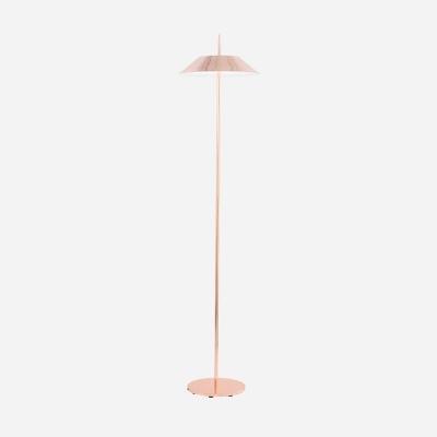 Coolie Floor Lamp Modern Design Metal Single Head Art Deco Standing Light in Rose Gold