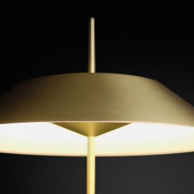 Designers Style Coolie Floor Light Steel Single Light Floor Lamp in Gold for Bedroom