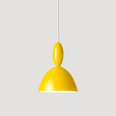 Dome Suspended Lamp Macaron Colorful Modern Single Light Small Metal LED Drop Light