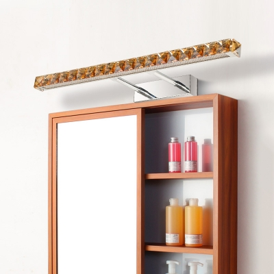 Extendable Bar Makeup Mirror Light Modern Fashion Crystal LED Wall Lamp in Warm/White