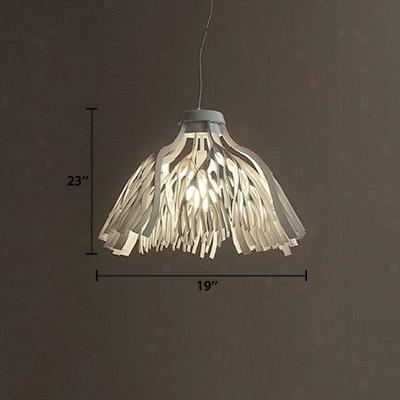 Foglie Ceiling Pendant Light Modern Fashion Acrylic 1 Head Suspension Light in White