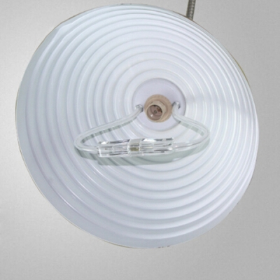 Industrial Adjustable Pendant Light with Ribbed Dome Shade Single Light