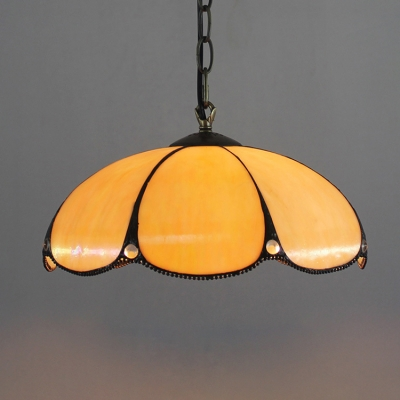 Simple Lotus Shaped Pendant Light with 12