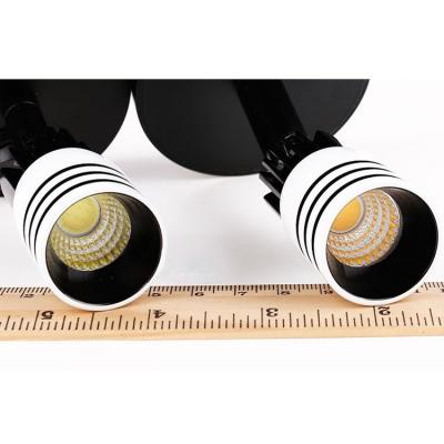 Tubed Mini LED Wall Lamp Simple Concise Rotatable Metallic Single Light Wall Lighting in Black