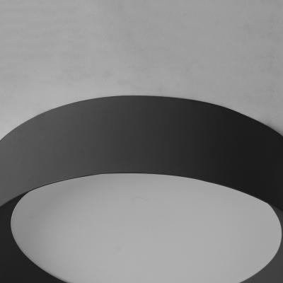 Black Round Flush Light Fixtures Minimalist Acrylic 1 Light Ceiling Light for Living Room