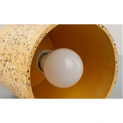 Concreted Cylindrical Suspension Light Modern Chic Art Deco Drop Light for Living Room Bar