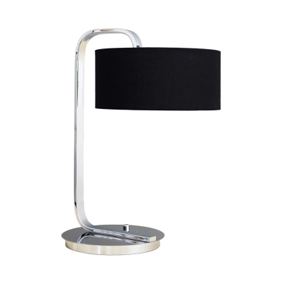 Drum Shade Table Light Simple Home Decorative Metal Desk Light with Swirling Switch