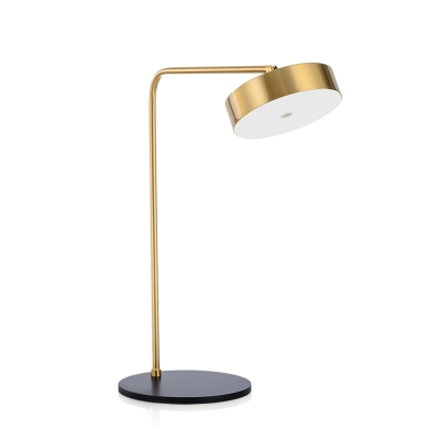 Rotatable Round Table Lamp Simplicity Elegant Acrylic Desk Light with Steel Base