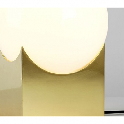 Gold Ball Desk Light Modern Chic Milky Glass Creative Metal 1 Light Table Light for Living Room