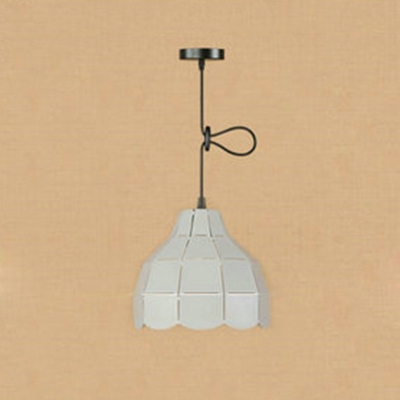 Gray Dome Suspended Light Modernism Steel Single Light Pendant Lamp for Coffee Shop